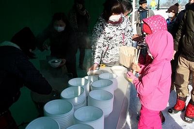 さむ~い朝に豚汁を食べて元気に遊ぼう! in円山動物園