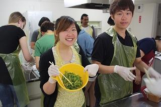 しょうゆしぼりと料理教室 ~留学生のみなさんと